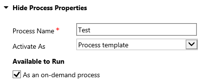 Copying a Process: Changing to a Process Template