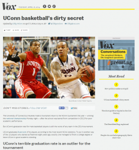 UConn basketball's dirty secret
