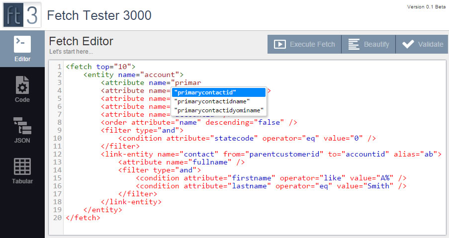 Auto-complete of CRM attributes